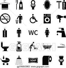 vektorkunst klo toilette icons toilette und