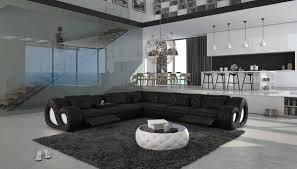 moderne sofa garnitur recamiere links salesfever große wohn