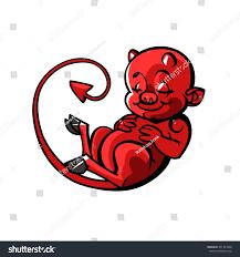 Is Halloween A Satanic Holiday by Cartoon Little Devil Imp Halloween Vector Stock Vector 331493990
