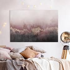 leinwandbild goldene dämmerung rosa querformat 2 3