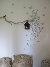 DIY Mural Easy 3D Butterfly Wall Decoration Made With Wrapping Paper And A Little Elbow