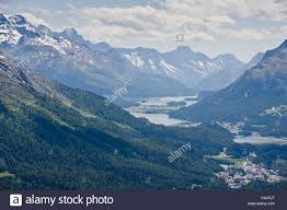 100 Muottas Muragl View Up The St Moritz Valley Upper Engadin From