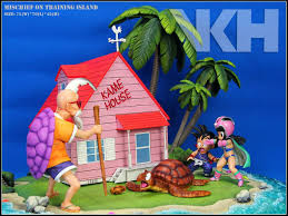 100 Kames House VKH Mischief On Training Island LED VERSION 16th Scale Diorama Dragon Ball THE KAME HOUSE PrePainted Statue