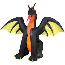 Cheap Halloween Airblown Inflatables by Totally Ghoul Halloween 7 U0027 Fire Breathing Dragon Airblown