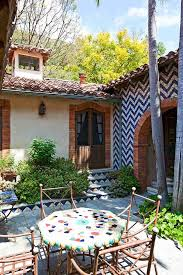 Patio With A Chevron Wall