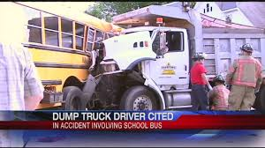 100 Dump Truck Drivers Holyoke PD Cite Dump Truck Driver In Bus Crash YouTube