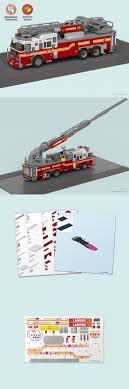 100 Custom Lego Fire Truck 66750 Stickers Instructions To Build A FDNY