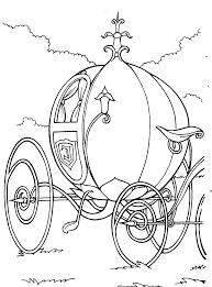 Coloring Page Activity Cinderella In Baby Carriage