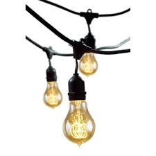 Led Patio String Lights Walmart by Shop Cascadia Lighting 48 Ft 15 Light Plug In Bulbs String Lights