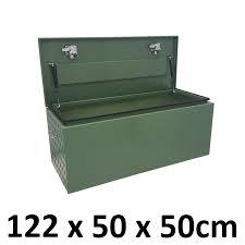 Aluminium Toolbox POWDER COATED GREEN TOP Opening Ute Truck Storage ...