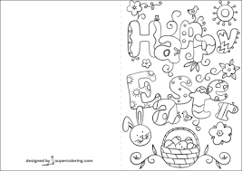 Click To See Printable Version Of Happy Easter Doodle Card Coloring Page
