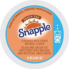 Snapple Peach Iced Tea Keurig Single Serve K Cup Pods 72 Count