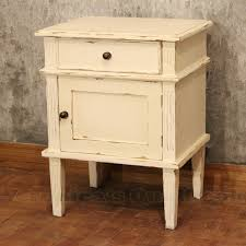 Alijah Bedside With Antique White Paint