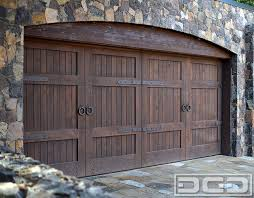 This Tuscan Style Garage Door Was Handcrafted In Solid Rustic