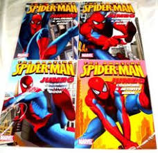 Lot 4 Amazing Spiderman Jumbo Coloring Activity Book By Books 899 Great