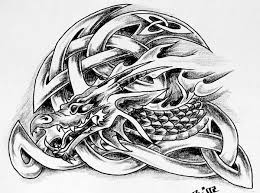 All Images To Tribal Dragons And Sword Tattoo Model