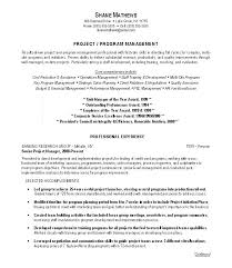 Junior Project Manager Resume Sample Program Examples