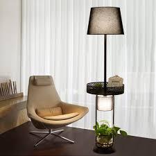 einfache wohnzimmer stehleuchte led tuch schatten