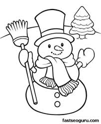 Christmas Snowman Coloring Pages Getcoloringpages Within Awesome Printable With Regard To Motivate