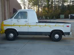 Custom Chevrolet Van With A Truck Bed -- The