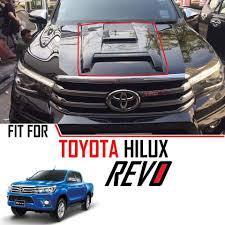 100 Truck Hood Scoops Gloss Black Scoop Bonnet Cover Trim Toyota Hilux Revo M70 M80