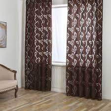 details zu gardinen wohnzimmer vorhänge mit tunnelzug fenstergardinen stores modern braun