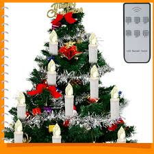 10pcs Set Christmas Tree LED Candles Lights Battery Operated For New Year Decoration Wireless Remote Control