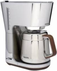 KRUPS KT600 SILVER ART COLLECTION THERMAL CARAFE COFFEE MAKER CHROME STEEL NEW