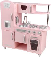 Amazon Com Kidkraft Vintage Kitchen In Pink Toys Games Cute Bathroom Family Room Floor
