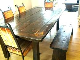 Rustic Table With Bench Seat Style Dining And Set Cushions Home Decor