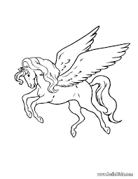 Pegasus Coloring Page Source H54 On Pages