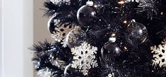 Black Christmas Tree Decorations UK