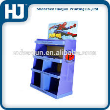 Mall Special Design Corrugated Cardboard Counter Display For Clothes T Shirt Stand