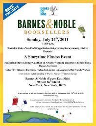 FREE NYC B&N and Books for Kids Storytime Fitness Event The