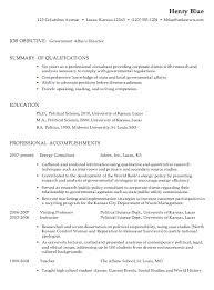 Government Job Resume Samples 1