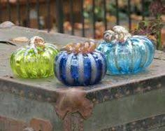 Blown Glass Pumpkins Boston by Clear Mini Pumpkins 12 Piece Wholesale Lot By Avalonglassworks