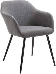 caro möbel 1 esszimmerstuhl enego im skandinavischen design küchenstuhl polsterstuhl in dunkelgrau stoffbezug
