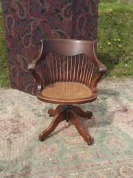 C/1920s Rocking Swivel Oak Office Chair