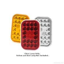 100 Truck Lite SignalStat 24 Diode Clear Rectangular LED BackUp Light