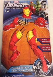 Pumpkin Push Ins by Iron Man Pumpkin Push Ins Marvel Avengers Assemble Halloween