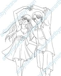 Printable Pictures Anime Couple Coloring Pages 41 On Online With