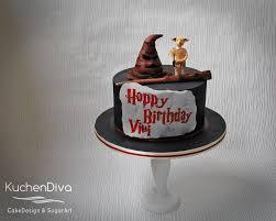 kuchendiva harry potter cake with dobby the house