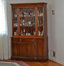 Vintage Duncan Phyfe China Cabinet by Duncan Phyfe Style Break Front China Cabinet Ebth