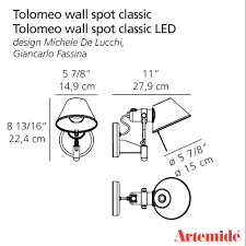 tolomeo classic wall spot artemide black friday sale 30