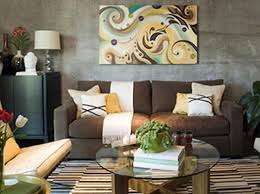 brown living room decorating ideas in stone textured wall living