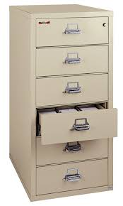 Fireking File Cabinet Keys by 6 Drawer Card Check Note Filing Cabinet 6 2552 C