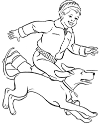 Dog Running Together Small Children Coloring Pages For Kids Printable Dogs
