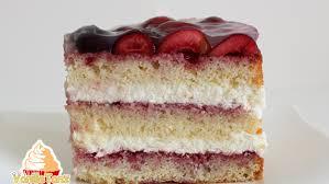 torte mit kirschen und sahnecreme vanilletanz