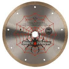 Plasplugs Diamond Wheel Wet Tile Saw by Qep 7 In Black Widow Micro Segmented Diamond Blade For Porcelain