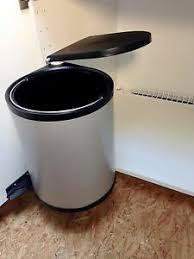 details zu wesco mülleimer klassik rund türmitnehmer abfallsammler 13 liter küche einbau